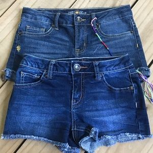Girls Shorts Lucky Brand Justice Size 8 Lot of 2